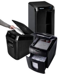 diverse-automatische-papierversnipperaars-fellowes-en-rexel