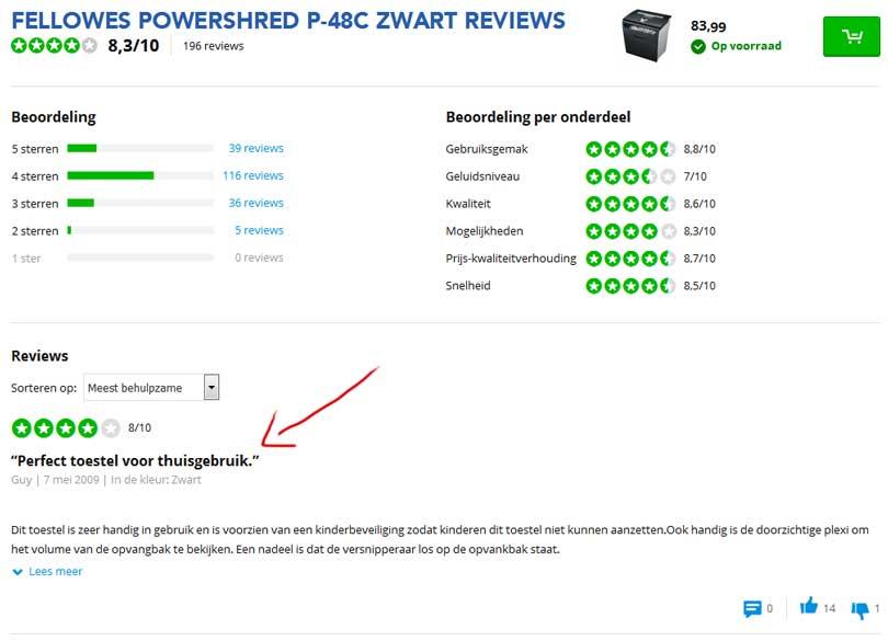 coolblue-papiervernietiger-klantbeoordeling-review-recensie